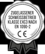 zugelassener Schweißbetrieb Klasse EXC3 nach EN 1090-2